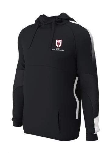 Haileybury Turnford BTEC Hooded Top Black/White